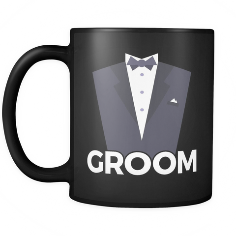 Couples Coffee Mug 11oz Black - Groom - c8p2-9m6r-mg 501202230