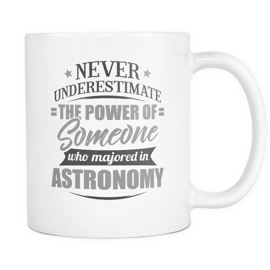 Astronomy Major Coffee Mug 11oz White - Never Underestimate Astronomy - 9r4d-4s7r-mg 538583123
