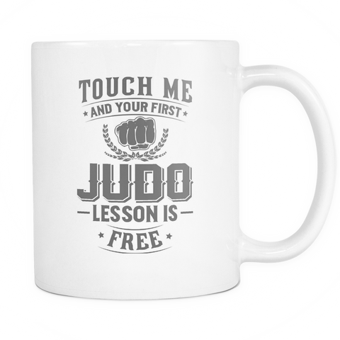 Judo Coffee Mug 11oz White - Free Lesson In Judo - 3m4a-b24s-mg 476289584