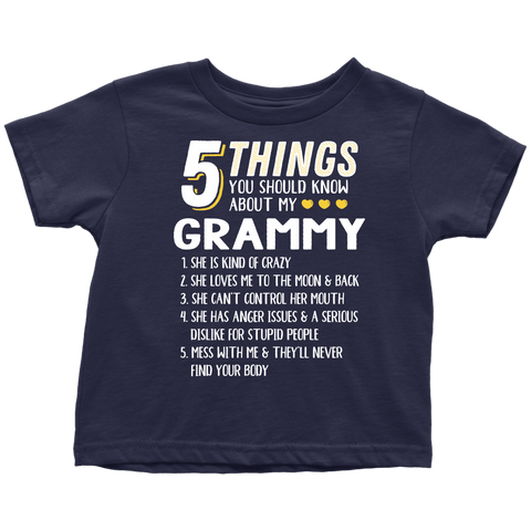 5 Things You Should Know About My Grammy - Youth, Toddler, Infant and Baby Apparel