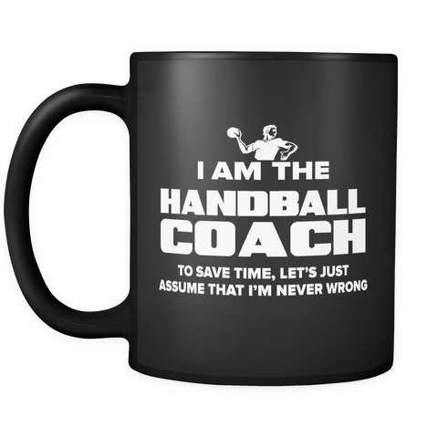 Coach Funny Mug 11oz Black - Handball Coach - c09h-b1q-mg 497625656