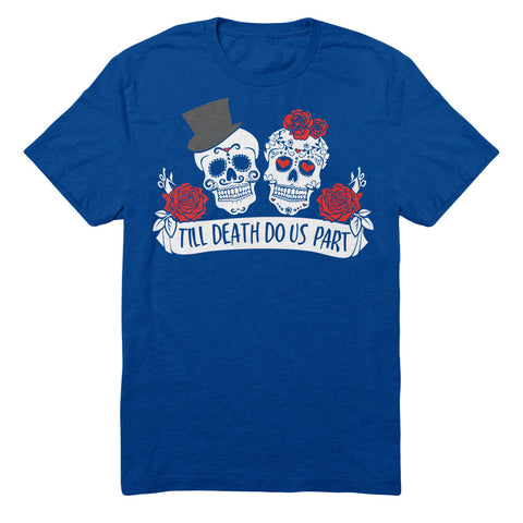 Matching Goth Skull Couples Shirt -  Till Death Do Us Part Skulls - 491127783