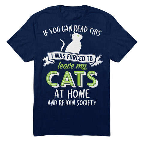 If You Can Read This I Was Forced To Leave My Cats At Home And Rejoin Society