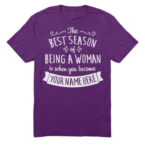 "Can't Find Your Name? Personalize Your ""Best Season"" Grandma Shirt Here!"