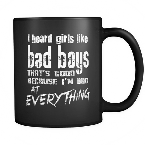 Bad Boys Coffee Mug 11oz Black - Bad At Everything - 6ad6-60ys-mg 518046890