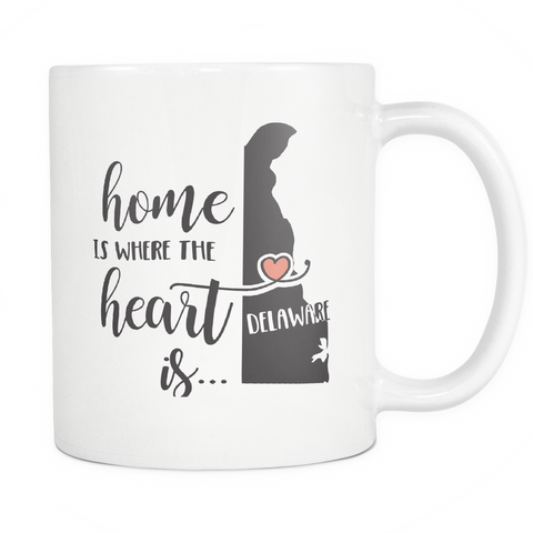 Delaware State Coffee Mug 11oz White - Heart Is In Delaware - 5t43-d3l4-mg 535181799