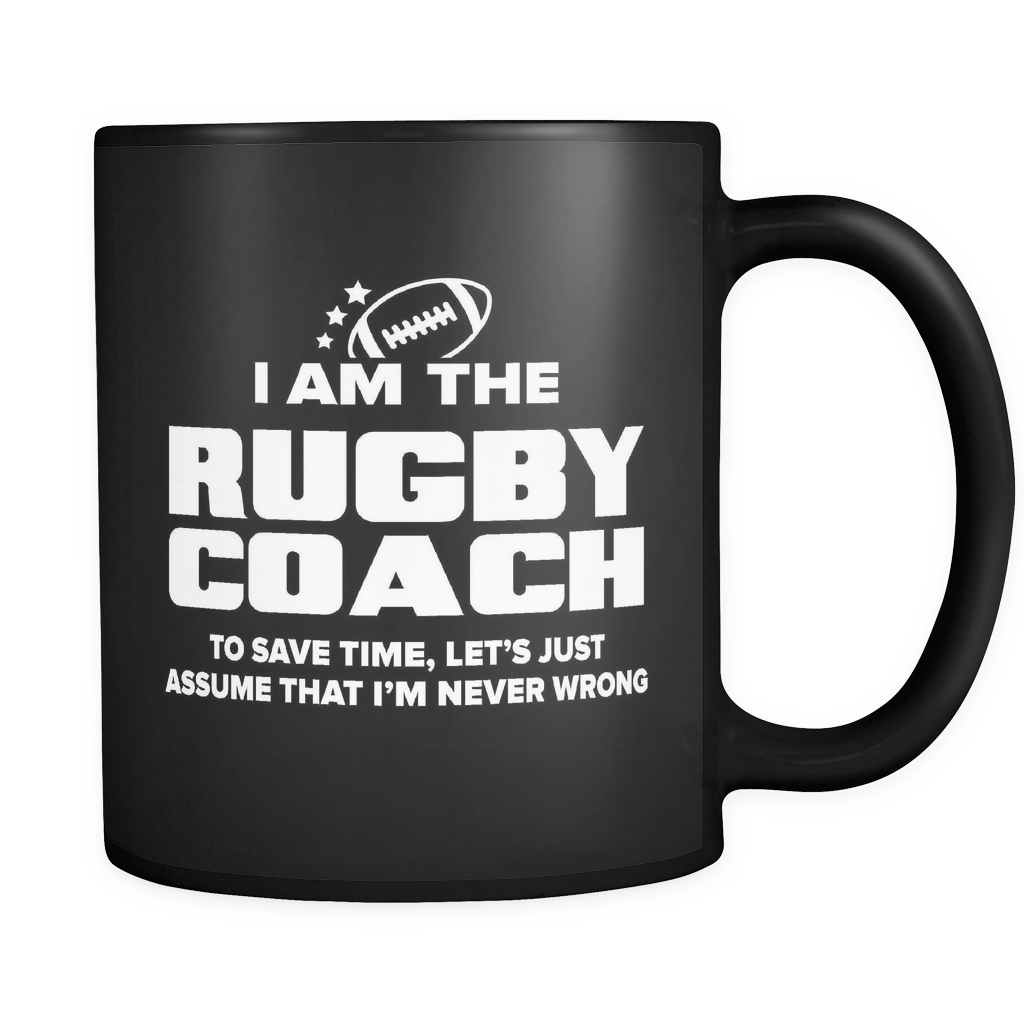 Coach Funny Mug 11oz Black - Rugby Coach - c09h-b1ac-mg 511115081