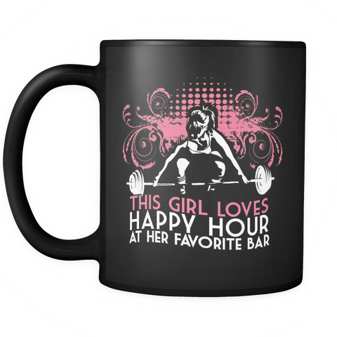 Fitness Coffee Mug 11oz Black - Favorite Bar - 2r05-b21-mg 470501990