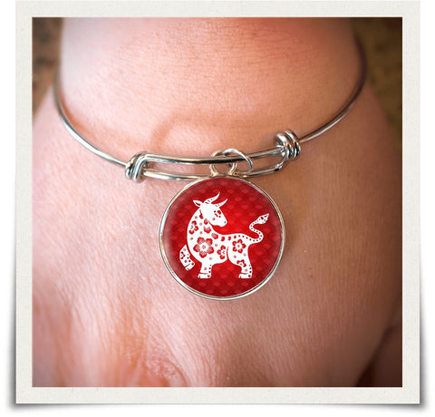 Chinese Zodiac Ox Necklace and Bangle - z91c-b3-nl5 490925941