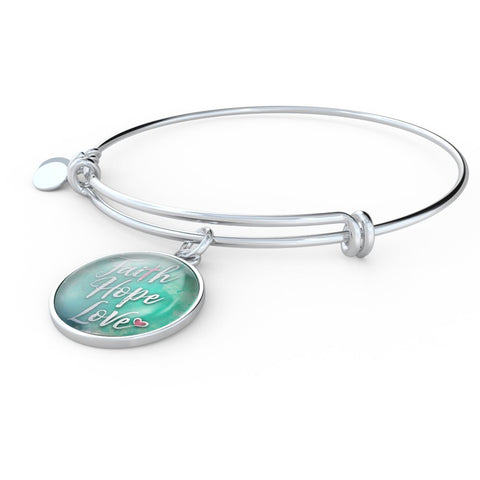 Faith Hope Love Necklace and Bangle
