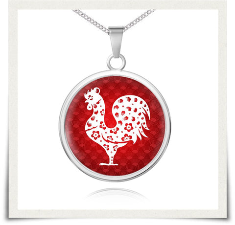 Chinese Zodiac Rooster Necklace and Bangle - z91c-b3-nl9 477429204