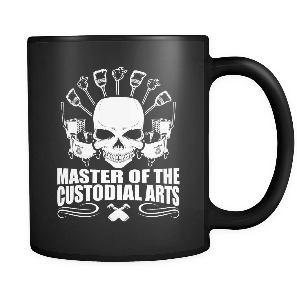 Janitor Coffee Mug 11oz Black - Master Of Custodial Arts - j4n1-b19-mg 468779844