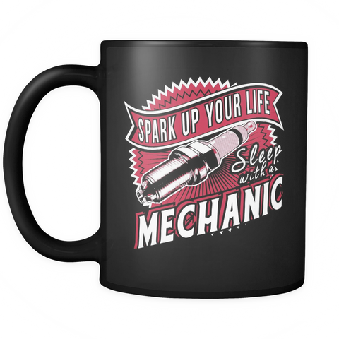 Mechanic Coffee Mug 11oz Black - Spark Up Your Life - m3c4-4z2-mg 451350760