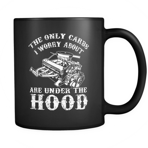 Car Lovers Coffee Mug 11oz Black - Carbs Under The Hood - m25c-b17-mg 461252886