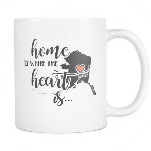 Alaska State Coffee Mug 11oz White - Heart Is In Alaska - 5t43-b26-mg 521366890
