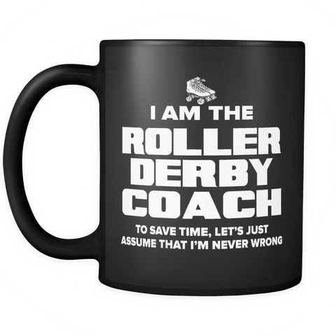 Coach Funny Mug 11oz Black - Roller Derby Coach - c09h-b1aa-mg 497631004