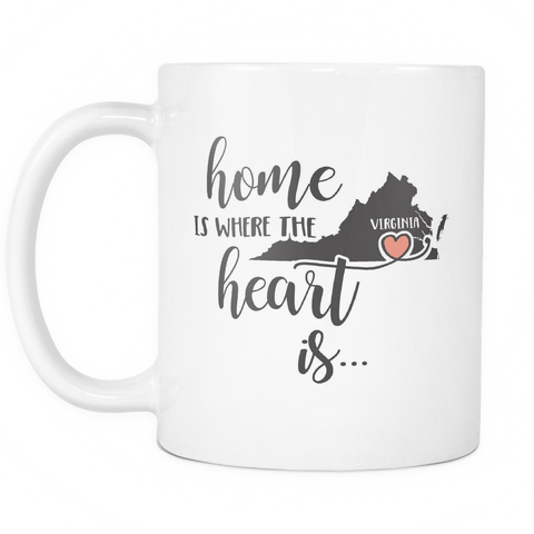 Virginia State Coffee Mug 11oz White - Heart Is In Virginia - 5t43-b26r-mg 483789287