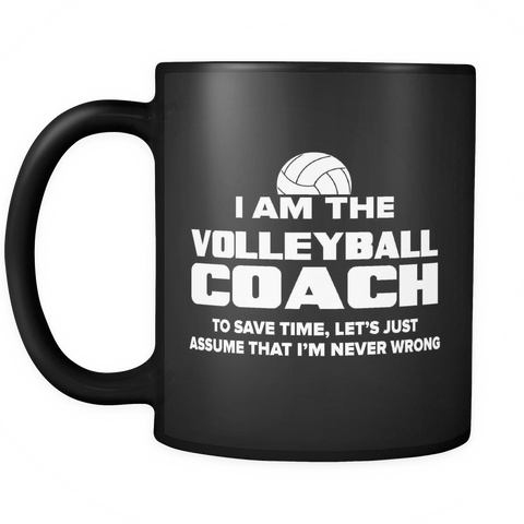 Coach Funny Mug 11oz Black - Volleyball Coach - c09h-b1ap-mg 511122419