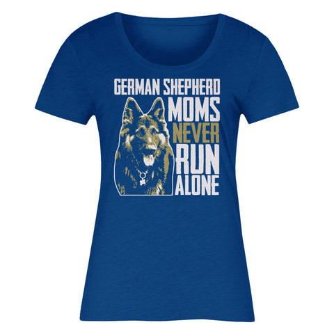German Shepherd Moms Never Run Alone