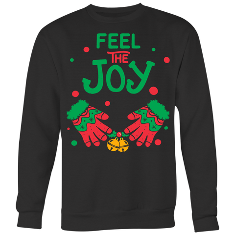 Couples Feel the Joy Men - Ugly Christmas Sweater Shirt Apparel - c0u9-f7jm