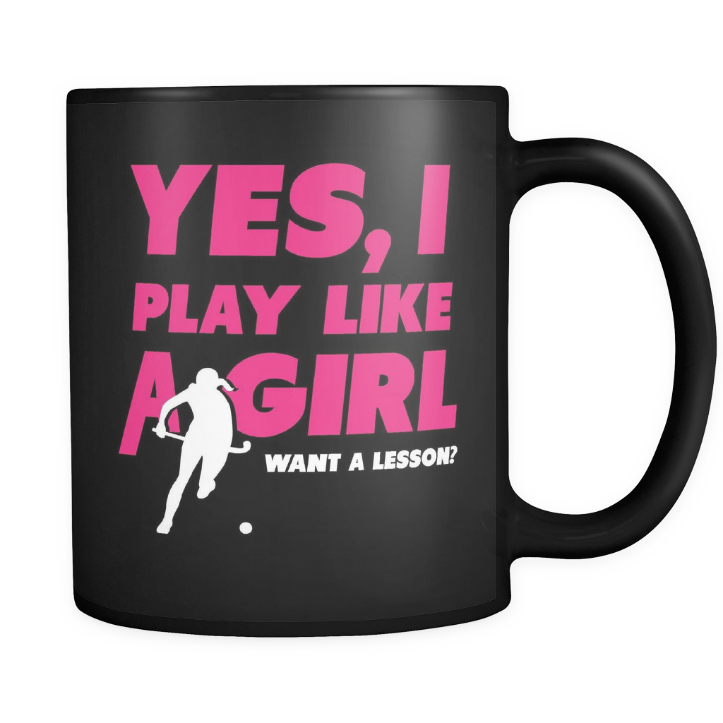 Field Hockey Coffee Mug - Play Like A Girl - f13d-b8-mg 457123444