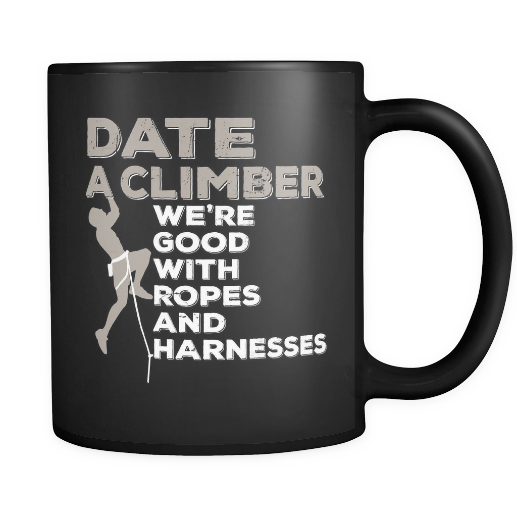 Climbers Coffee Mug 11oz Black - Date A Climber - c1m8-b17-mg 461220100