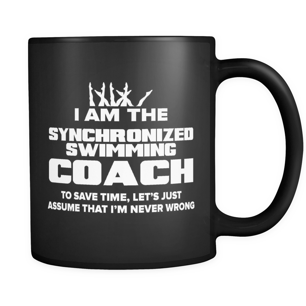 Coach Funny Mug 11oz Black - Synchronized Swimming Coach - c09h-b1aj-mg	511118891