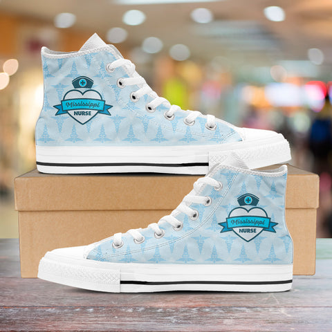 MS Nurse Blue High Tops