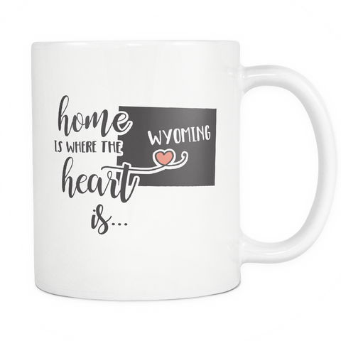 Wyoming State Coffee Mug 11oz White - Heart Is In Wyoming - 5t43-wy03-mg 535283231