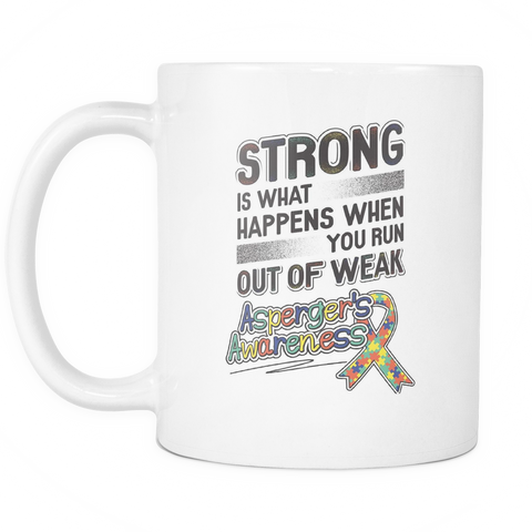 Asperger's Awareness Coffee Mug 11oz White Mug - Asperger's Awareness - 4wr3-b25a-mg 477601934