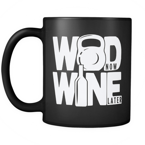 Crossfit Coffee Mug 11oz Black - WOD and Wine - 2r05-b20-mg 469354216