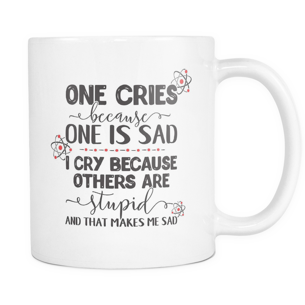 Nerds Coffee Mug 11oz White - Stupid Makes Me Sad - n346-b28-mg 483636731