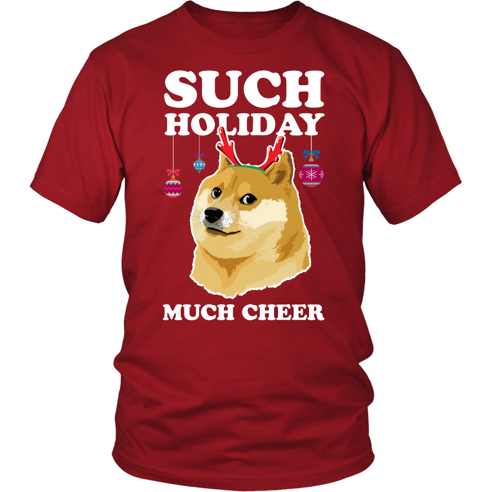such holiday much cheer funny christmas doge my family tee - Christmas Doge