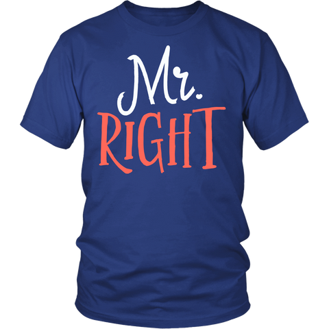 Matching Couples Shirt - Mr. Right - 547148355