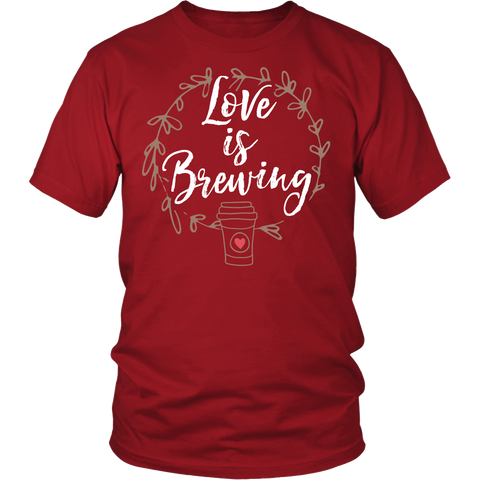 Cute Wedding Engagement Shirt - Love Is Brewing - 548019443