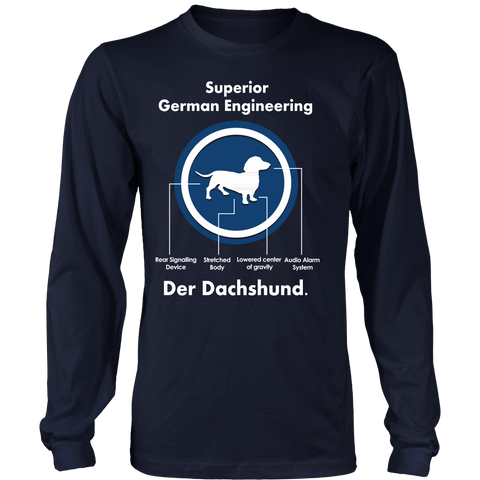 Dachshund Lover T-Shirt - Superior German Engineering Der Dachshund - 459271304