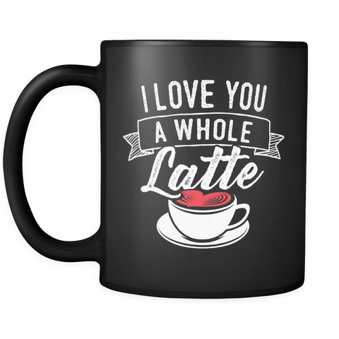 Couples Wedding Coffee Mug 11oz Black - Love  You Latte - c8p2-lte9-mg	526051081
