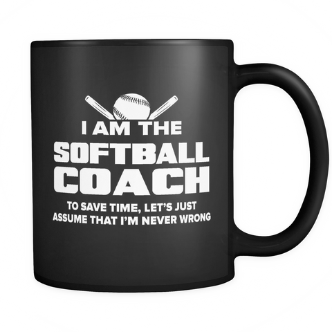Coach Funny Mug 11oz Black - Softball Coach - c09h-b1af-mg 497633826