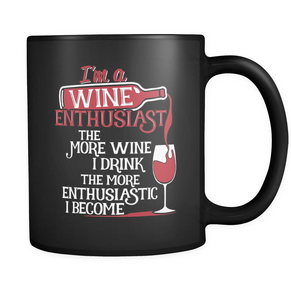 Wine Lovers Coffee Mug 11oz Black - Wine Enthusiast - 51n3-4z-mg 462081841