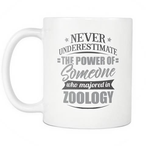 Zoology Major Coffee Mug 11oz White - Never Underestimate Zoology - 9r4d-z0o1-mg  525814422
