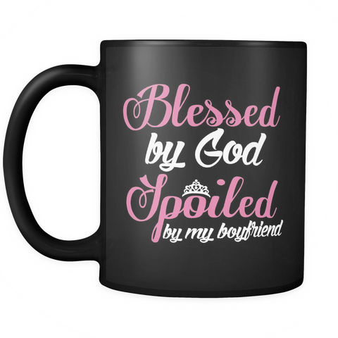 Girlfriend Coffee Mug 11oz Black - Spoiled By Boyfriend - f4m7-b29-mg 483654809