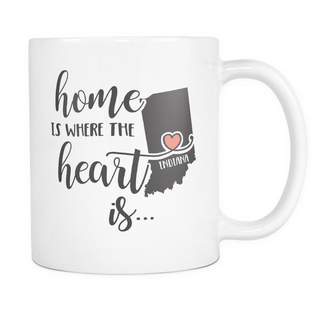 Indiana State Coffee Mug 11oz White - Heart Is In Indiana - 5t43-b26d-mg 483744127