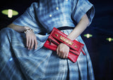 mata hari x Joomi Lim collaboration KRISTINE red leather clutch