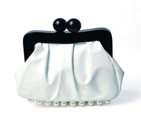 Amy Clutch pearl white