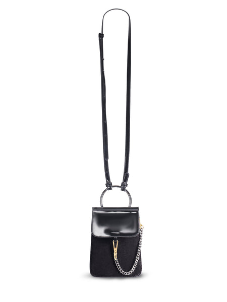 JUDY C for mata hari: Judy2 phone cross-body purse black