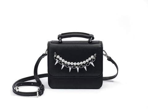 mata hari x Joomi Lim collaboration AUDREY black leather bag