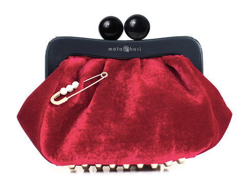 Amy Clutch Red Velvet