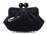 Amy Clutch black velvet
