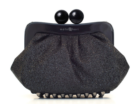Amy Clutch Black Gltter