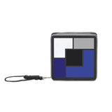 TUXEDO multi-colored acrylic block clutch with wrist strap